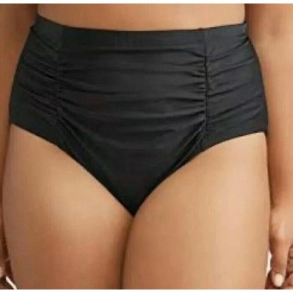 Terra & Sky 3X 24W-26W Black Bottoms Swimsuit New